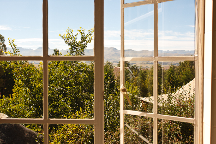 View of Lesotho mountains from Alberry Cottages