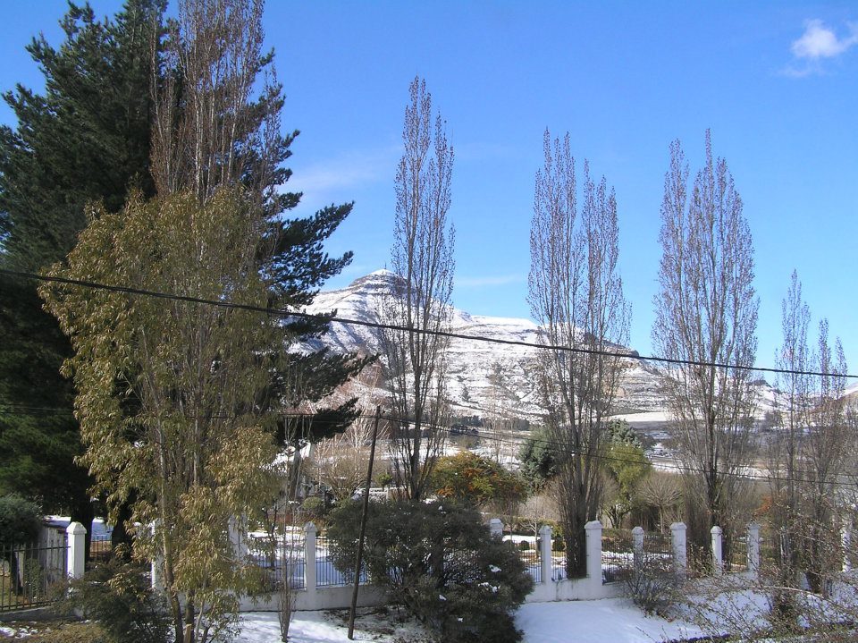 View of snowy Horeb from Alberry Cottages